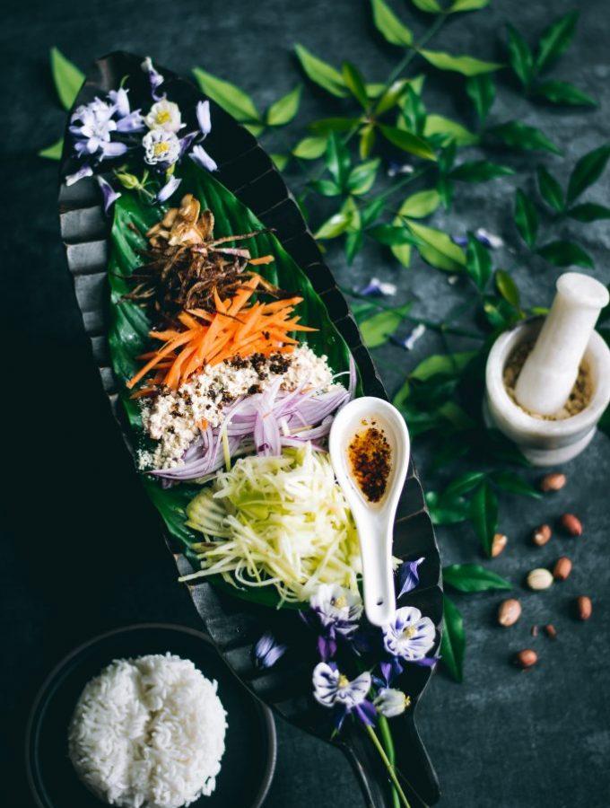 Ingredients for Thayat Thee Thoke - Burmese Green Mango Salad