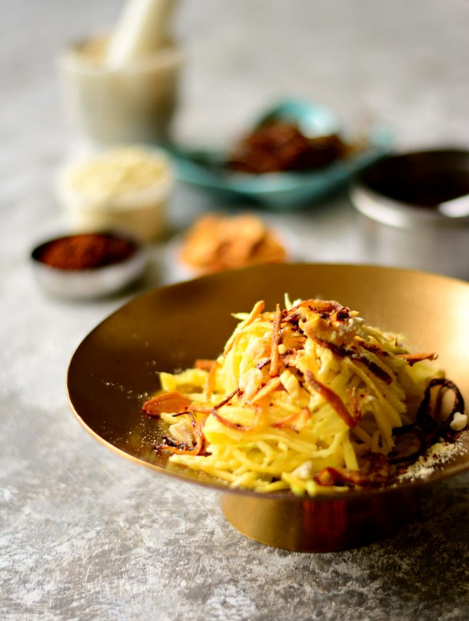 Burmese Thoke – Spicy Green Mango salad