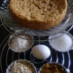 Oats and raisin cake