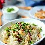 Cashew and Raisin Pulao