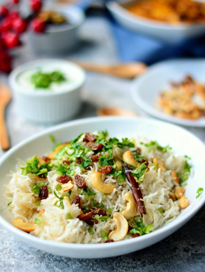Quick and Easy Cashew and Raisin Pulao