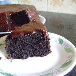 Eggless, butterless Chocolate cake