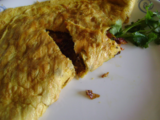 Easter Omelette with Chicken and stir fried vegetables