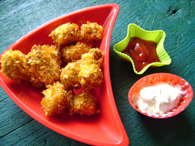 Baked Buffalo Chicken bites – that's right, baked!