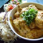 Cream and chicken curry