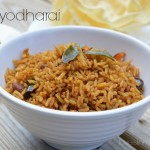Puliyodharai – Tamarind rice – Puliyogare