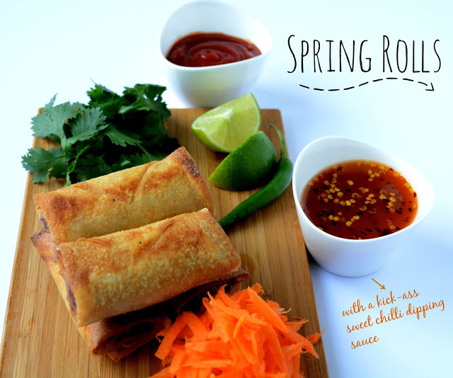 Vegan Spring Rolls W Vegan Sweet Chilli Dipping Sauce Love Is In My Tummy