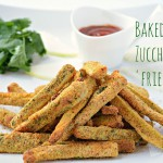 Zucchini fries (baked, not fried)! yaay!