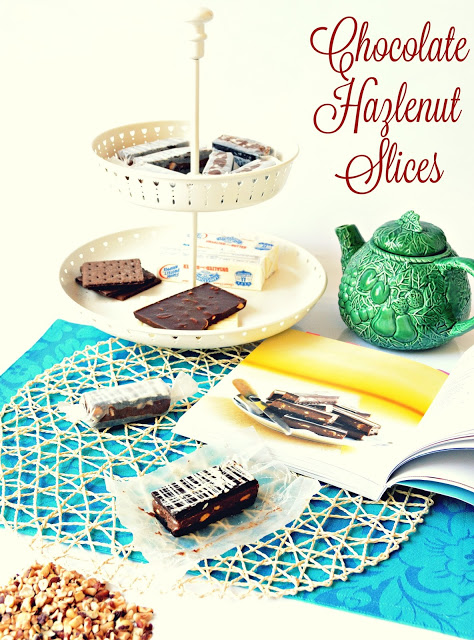 Chocolate Hazlenut Slices