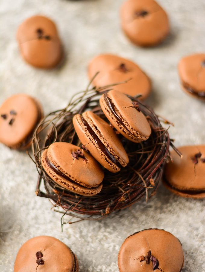 Chocolate French Macaroons