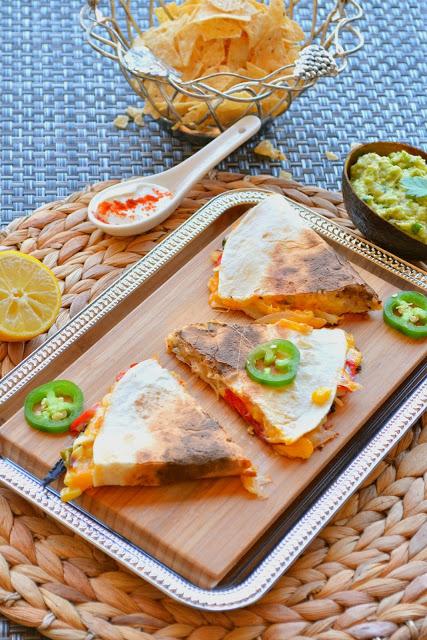 Tofu and Veggie Quesadillas