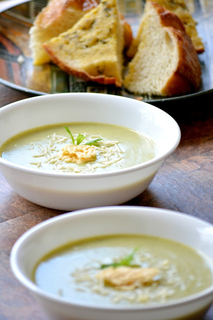 Table for two: Creamy Broccoli and Zucchini Soup