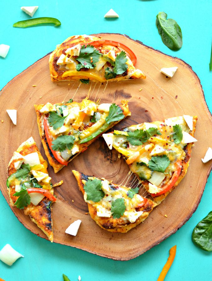 35 minute Indian style Pizza for two