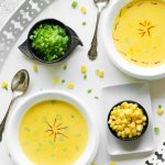 Table for two: Molten Sunshine soup – Saffron, Corn and Bell Pepper
