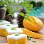 Mango and Coconut Jelly - 5 ingredients - Gluten Free + Vegan dessert using Agar Agar.
