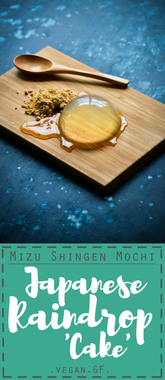 The Japanese Raindrop Cake that took the Internet by the storm: Mizu Shingen Mochi. Save yourself a trip to Japan and make it at home. 3 ingredients. Vegan. Gluten-Free. Yumm!