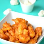 Spicy Cauliflower Fritters - Vegan + Gluten-Free - Perfect appetizer or an evening snack! So flavourful, hot and delicious!
