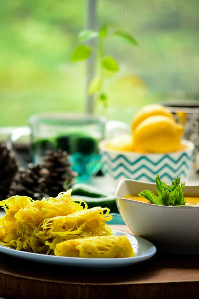 The popular Malaysian Net/Lace pancakes gets a vegan makeover in my version of Vegan Roti Jala, served with a side of coconut curry. Appetizers   Snacks   Lunch   Dinner   Coconut Milk   Plant-based   Veganized