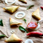 Mini 'Baked' Onion Samosas for two