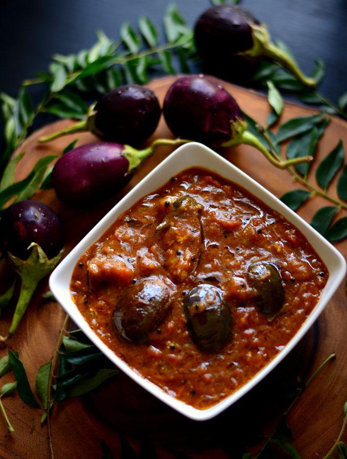 Kathirikkai Kuzhambu Brinjal curry