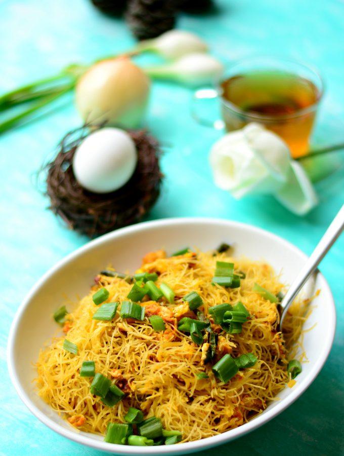 Stir-fried One pan Egg Semiya