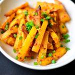 BAKED Chilli Garlic Potato 'Fries'
