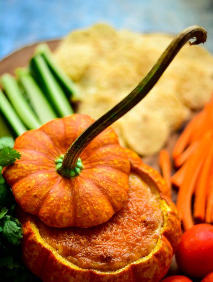 Spicy Pumpkin Queso Fundido Bowl