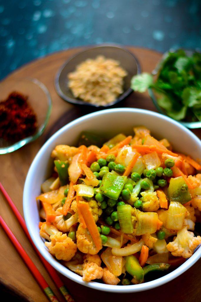 Simple VEGAN Stir-fried Vegetables