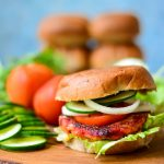 {Fall Special} VEGAN Sweet Potato Burger