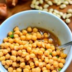Burmese Chickpea Bowl - inspired by Burmese flavours & condiments to create a quick, simple, low-fat, protein-rich Vegan + Gluten free meal!