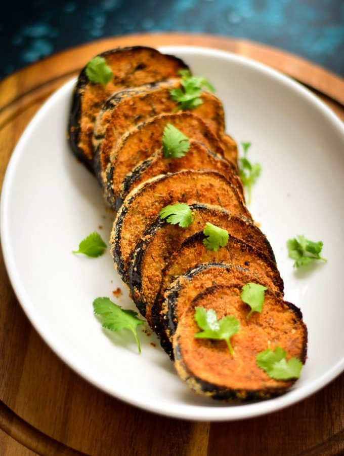 Microwave dinners needn't translate to pathetic & unhealthy - jazz things up with healthy Lean Cuisine and Crispy Baked Eggplant Slices!