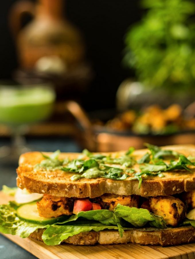 Put an interesting spin on your usual lunch with this Tandoori Sweet Potato Sandwich. The Mint-Cilantro chutney packs quite a punch!