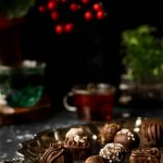 Vegan Chocolate Truffles with Truffle Oil