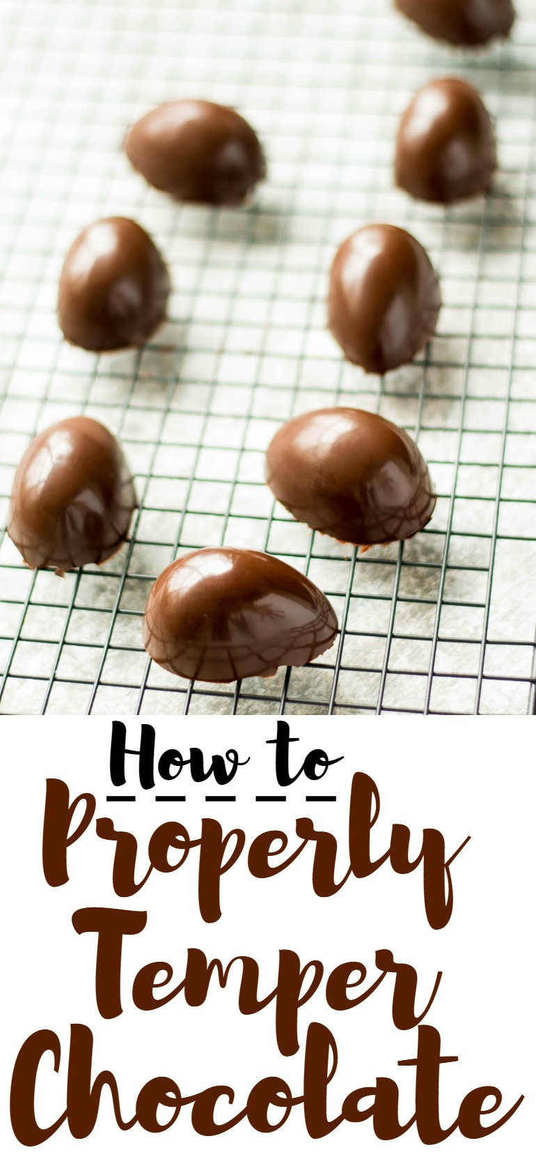 Learn how to properly temper chocolate to get that signature sheen and snap. Perfect for coating candy, truffles and more!