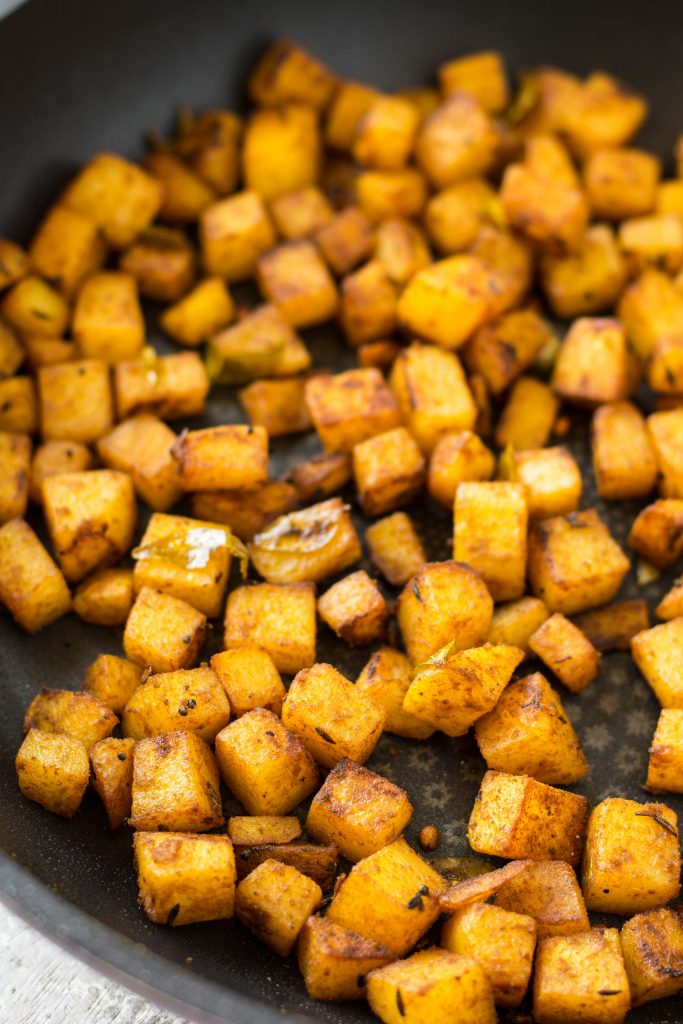 Roasted Potatoes make an awesome side for the Black Truffle Dal