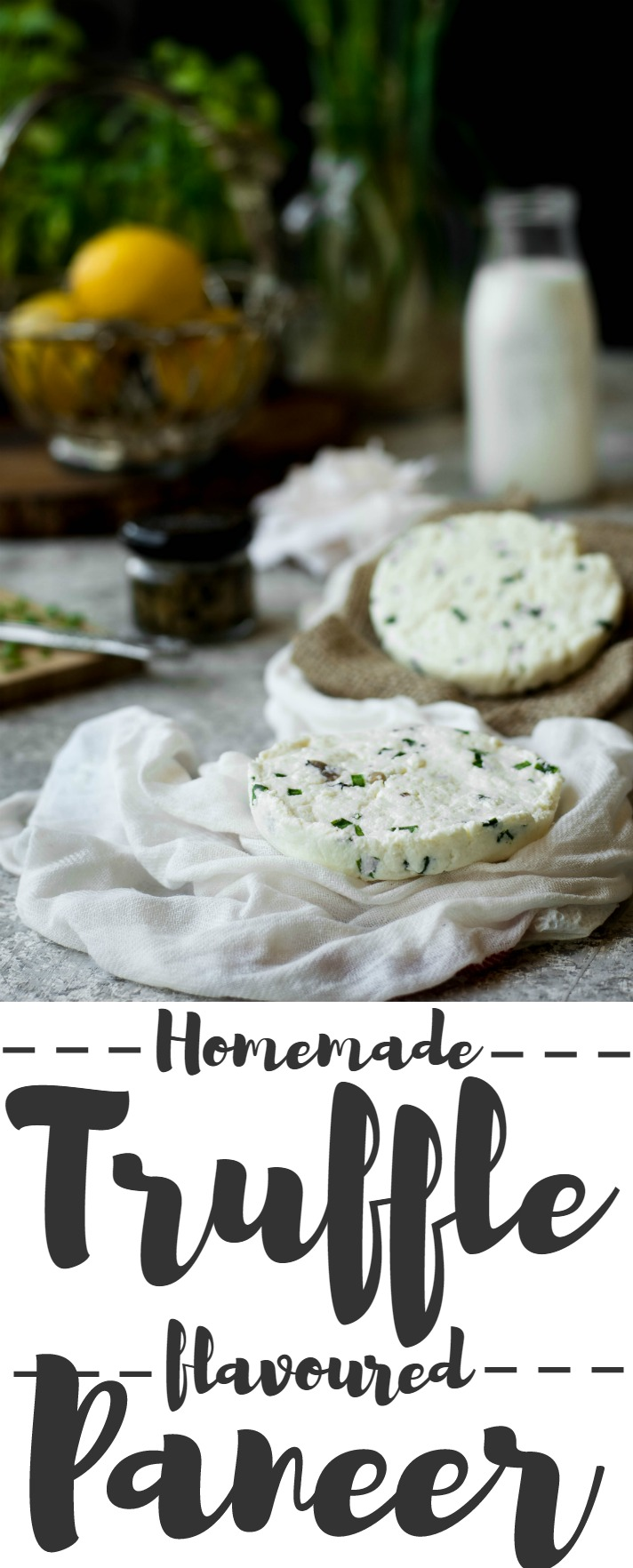 This homemade Truffle flavoured Paneer (Indian Cottage Cheese) is incredibly simple to make, and has a wonderfully intoxicating aroma & taste. Gluten-free. Vegetarian.