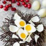 Coconut Mango Jelly Easter 'Egg'