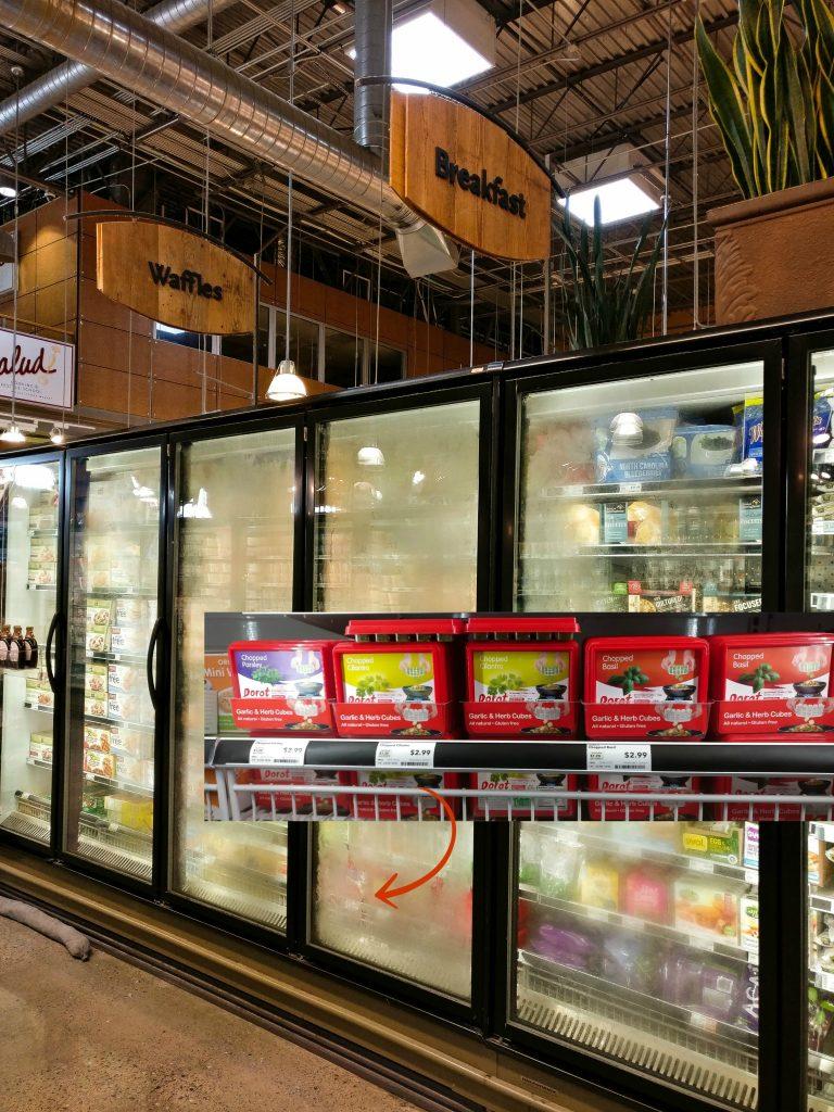 Whole Foods Dorot Basil Cubes shelves