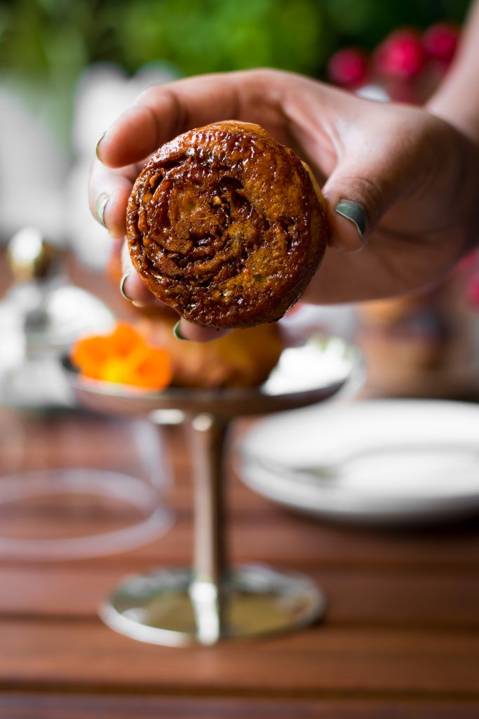 This Vegan Coconut Jaggery Kozhukattai Bread Rolls is inspired by the traditional South Indian specialty dessert, Modak or Modhakam.