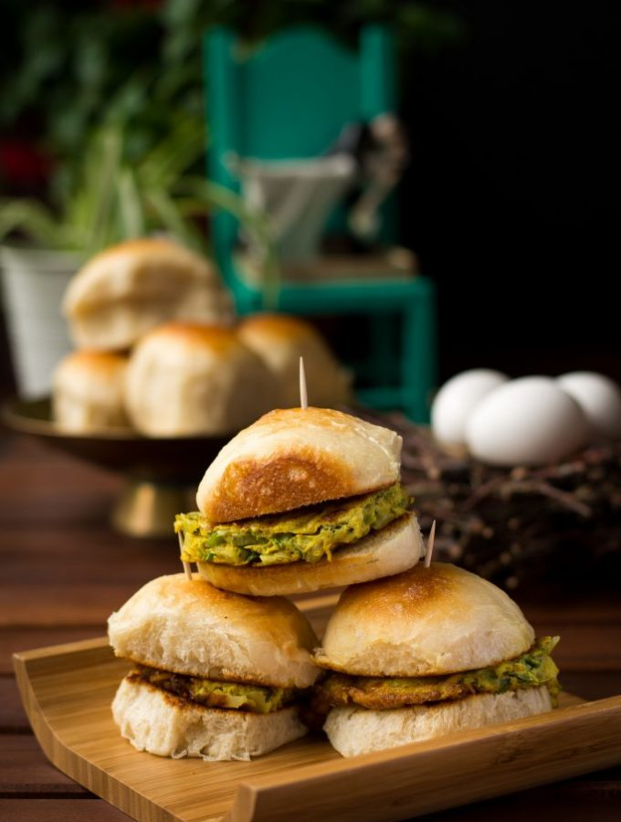 My mother used to make us these Masala Omelette Sliders for breakfast - simple, fast and absolutely delicious!