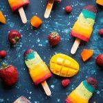 VEGAN Rainbow Popsicles