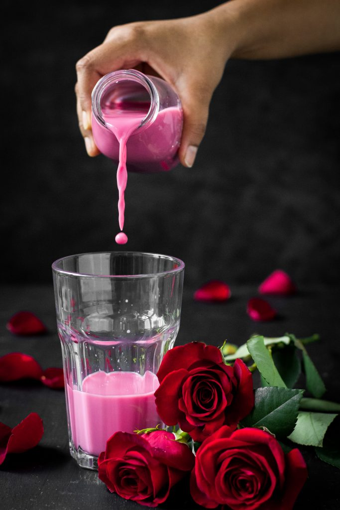 Chilled Rose Milk is a fragrant + refreshing summer favorite, but instead of using artificial colors, I've used Beetroots! Easily made vegan.