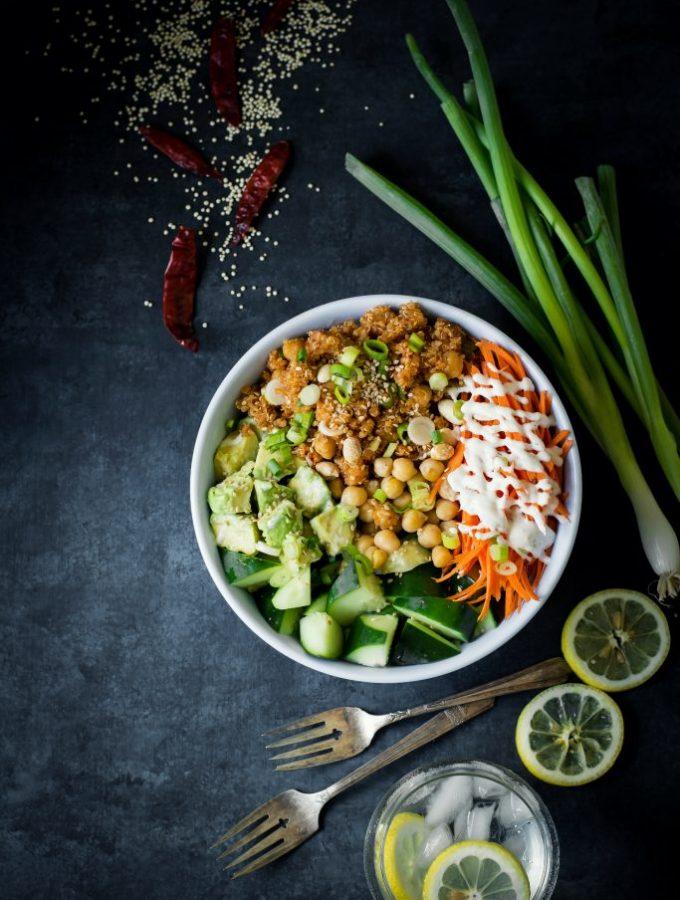 Fiery Quinoa Chickpea Stir-fry