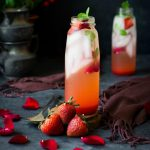 Rose Strawberry Shrub (drinking vinegar)
