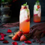 Rose Strawberry Shrub (drinking vinegar)