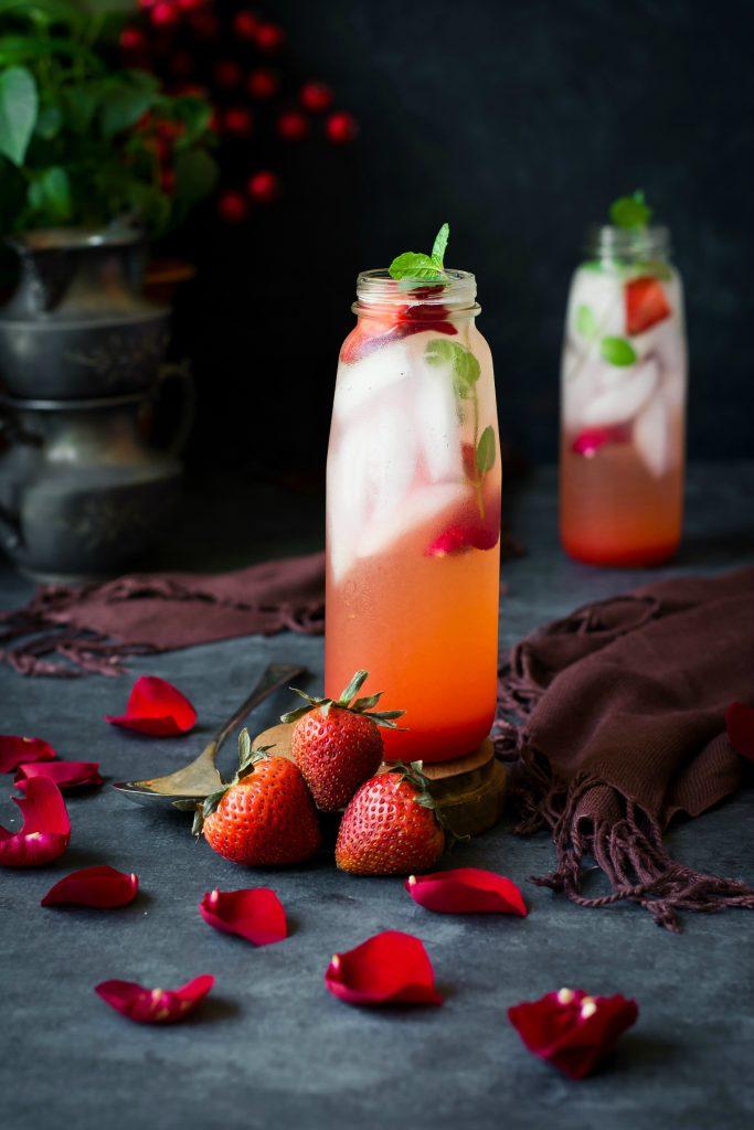 Rose Strawberry Shrub (drinking vinegar) - Love is in my Tummy