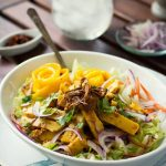 Burmese Chickpea Tofu Salad (Tofu Thoke) - a non-soy, protein rich and beautifully flavored dish! VEGAN + Gluten-Free!