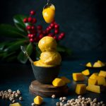 This VEGAN Mango Icecream is made more protein-rich and special with Aquafaba - the chickpea brine liquid. Non-dairy + Gluten-free dessert.