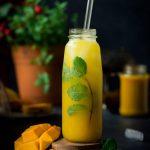 Non-Alcoholic Vanilla Mango Shrubs