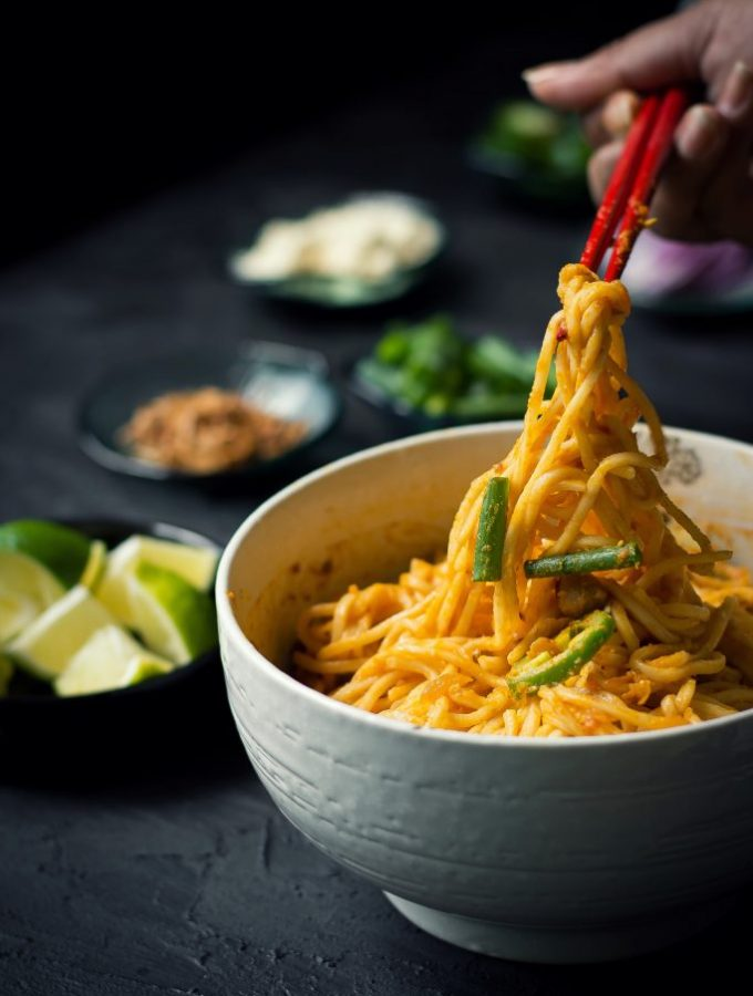 {VEGAN} Mandalay Curry noodles